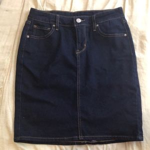 Levi's dark wash skirt